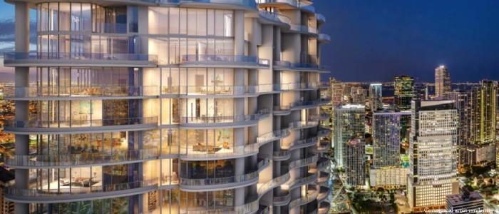 Brickell Flatiron Condominium Building